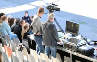 4 Das Medienzentrum der UB hält alles in Bild und Ton fest