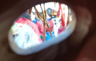 Eingeschränktes Sichtfeld durch die Maske