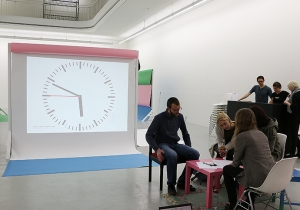 Die Gedicht-Station von Harm van den Dorpel zum Thema künstliche Intelligenz in Verbindung mit Kunst.