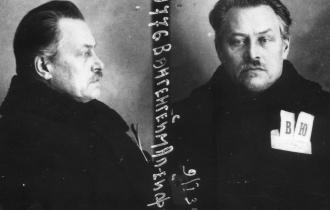 Alexej Wangenheim nach seiner Verhaftung.