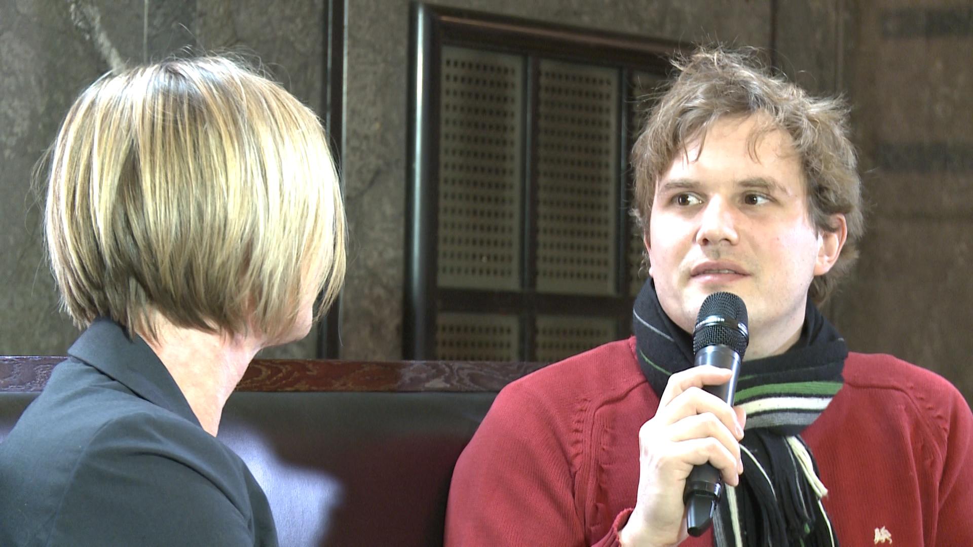 W. Weismann im Gespräch mit Edith Sitzmann