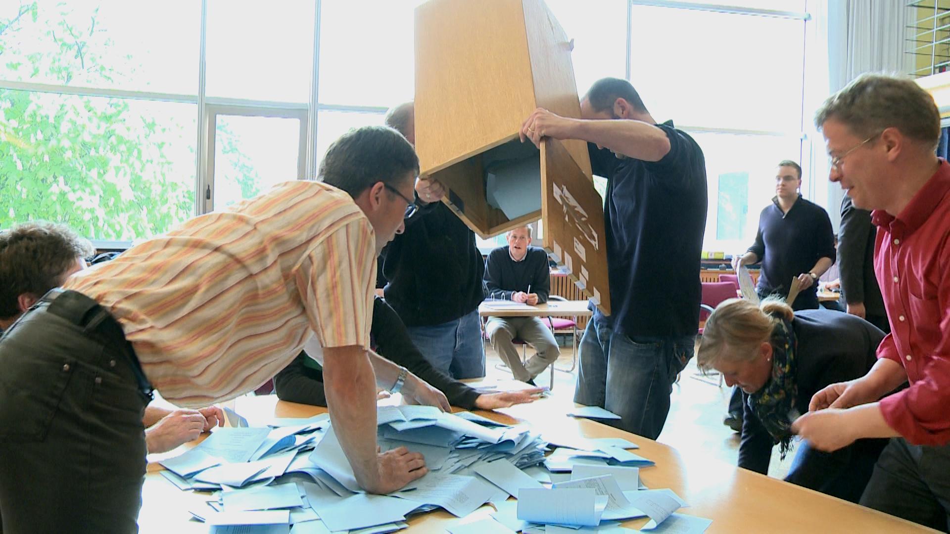 Öffentliche Auszählung der Abstimmung im Rektorat
