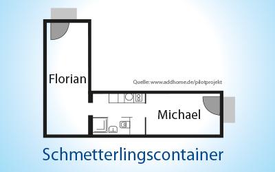 Home, Sweet Home. Der Schmetterlingscontainer von Florian und Michael.