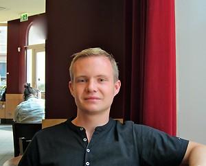 Erasmusstudent Damian Bess