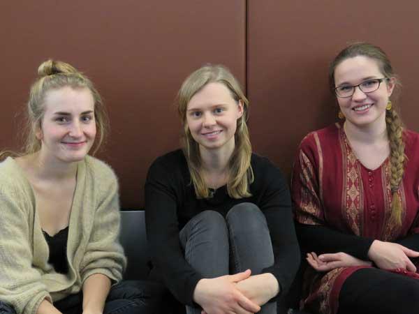 Julia, Laura, Friederike, Politiwissenschaft, 5/6. Semester