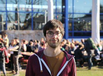 Lukas Gebhard, Student und Initiator von Falafel for Future