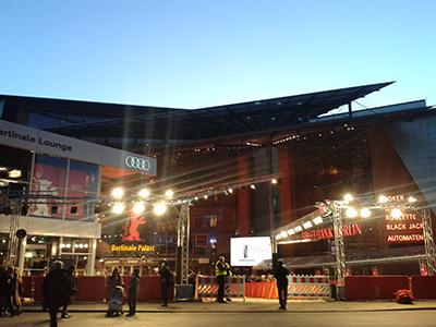 Der Berlinale Palast von außen - hier war der rote Teppich
