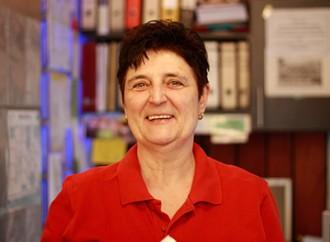 Elisabeth Heß, Leiterin des Café Senkrecht