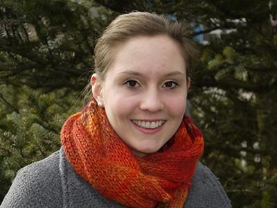 Die Studentin Lisa Hummel leitet den Unichor seit drei Semestern.
