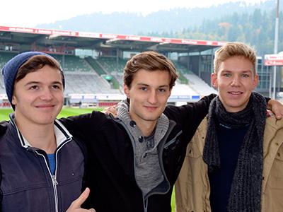Hannes aus Lübeck, Samuel aus dem Ruhrgebiet und Jonas aus Benzheim an der Bergstraße, Jura