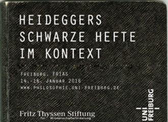 "Heideggers ""Schwarze Hefte"" im Kontext"