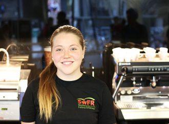 Kathrin Rück, Studentin und Mitarbeiterin im Café Libresso