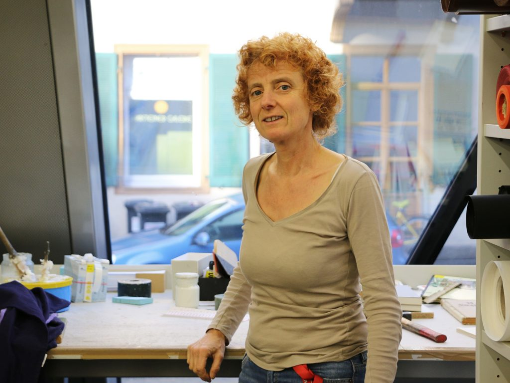 Birgitta Landerer, Buchbinderin an der UB