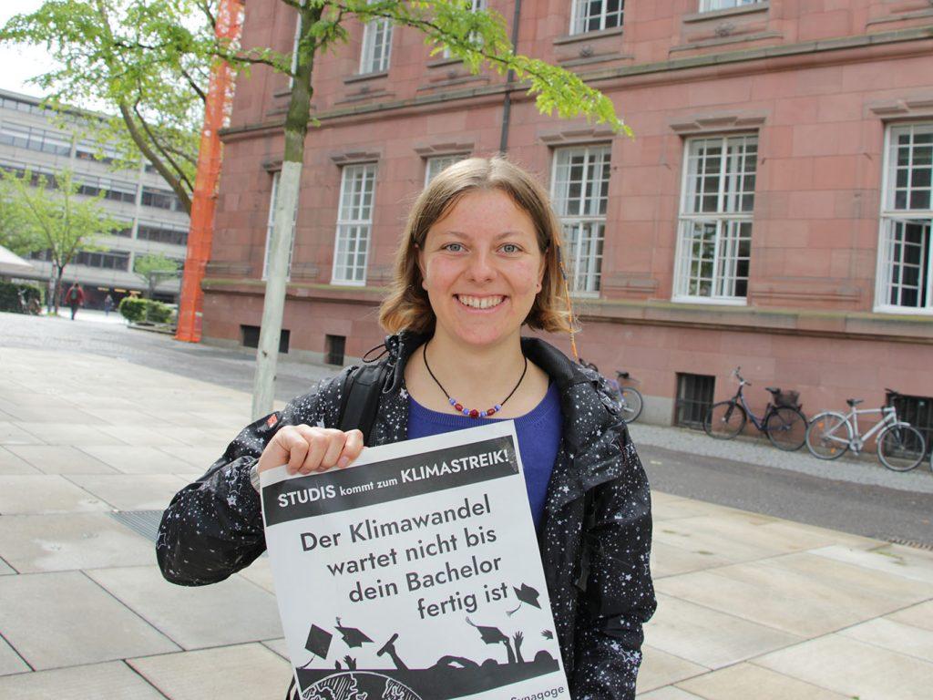 Mira Kopp, Studentin, Fridays for Future-Engagierte und im Senat der Uni