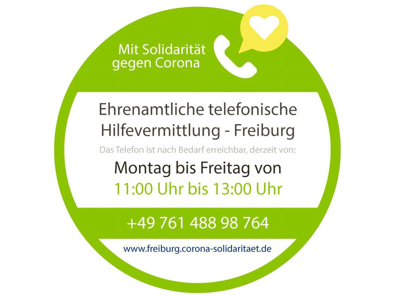 Freiburger Solidarität gegen Corona